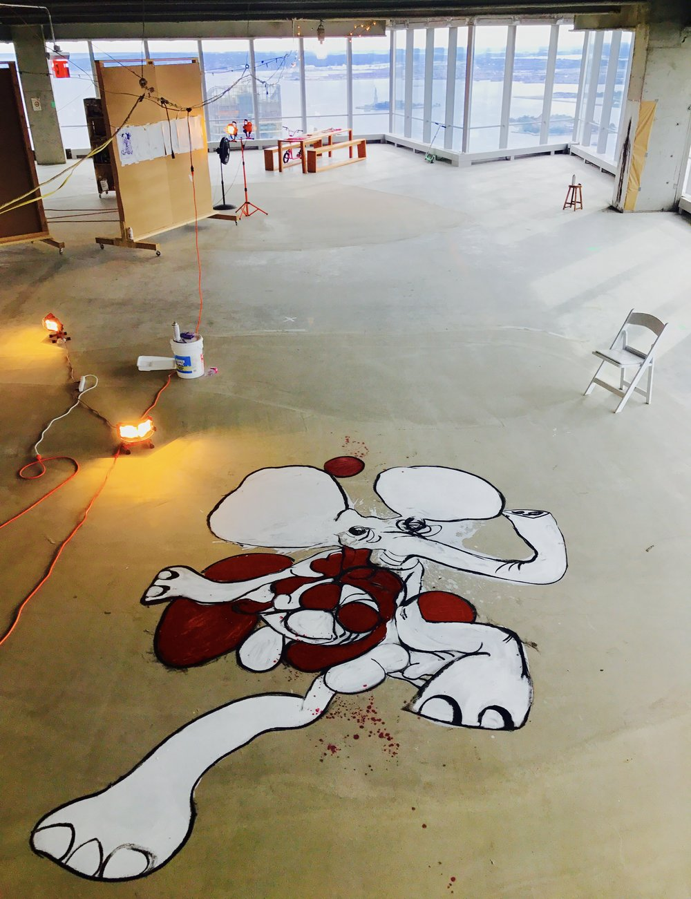 Floor piece homage to Tom Friedman