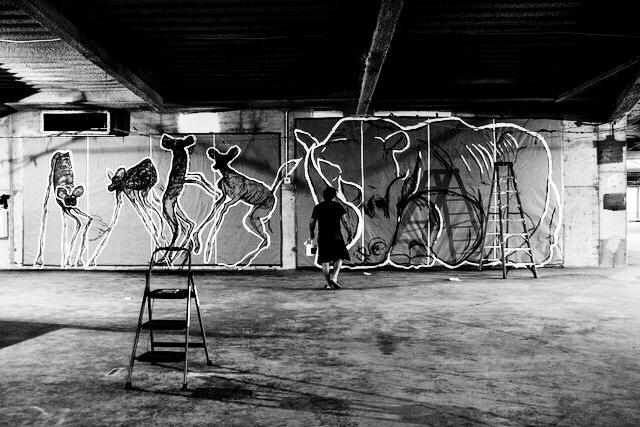 Studio, Study for a massive sculpture NYC 2017