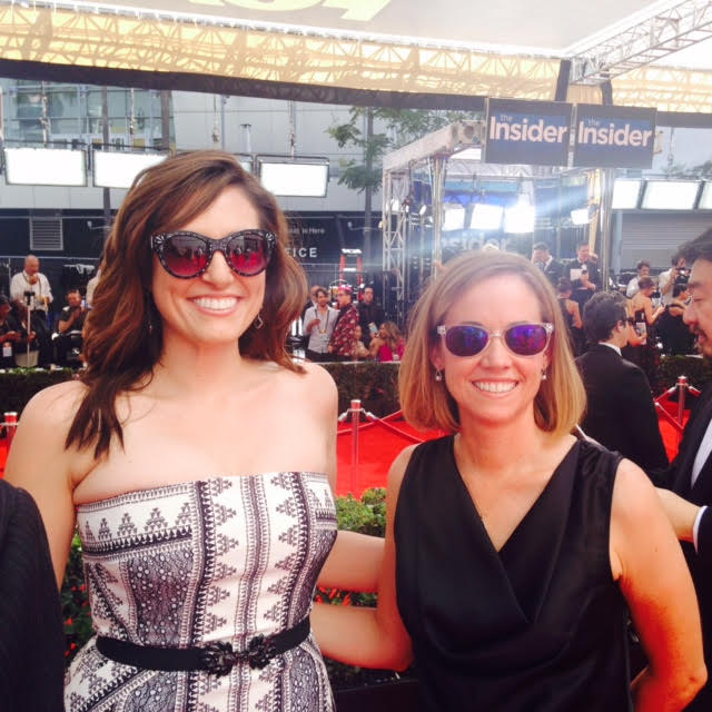 Bridget McManus and Christin Baker at the 2016 Emmy Awards CREDIT: TELLO FILMS