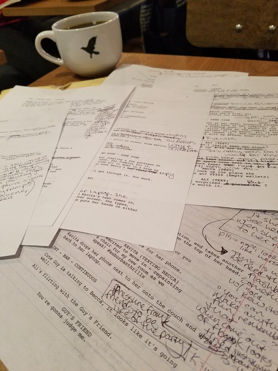 Revisions. Revisions. Revisions.  Credit: Hillary Nussbaum