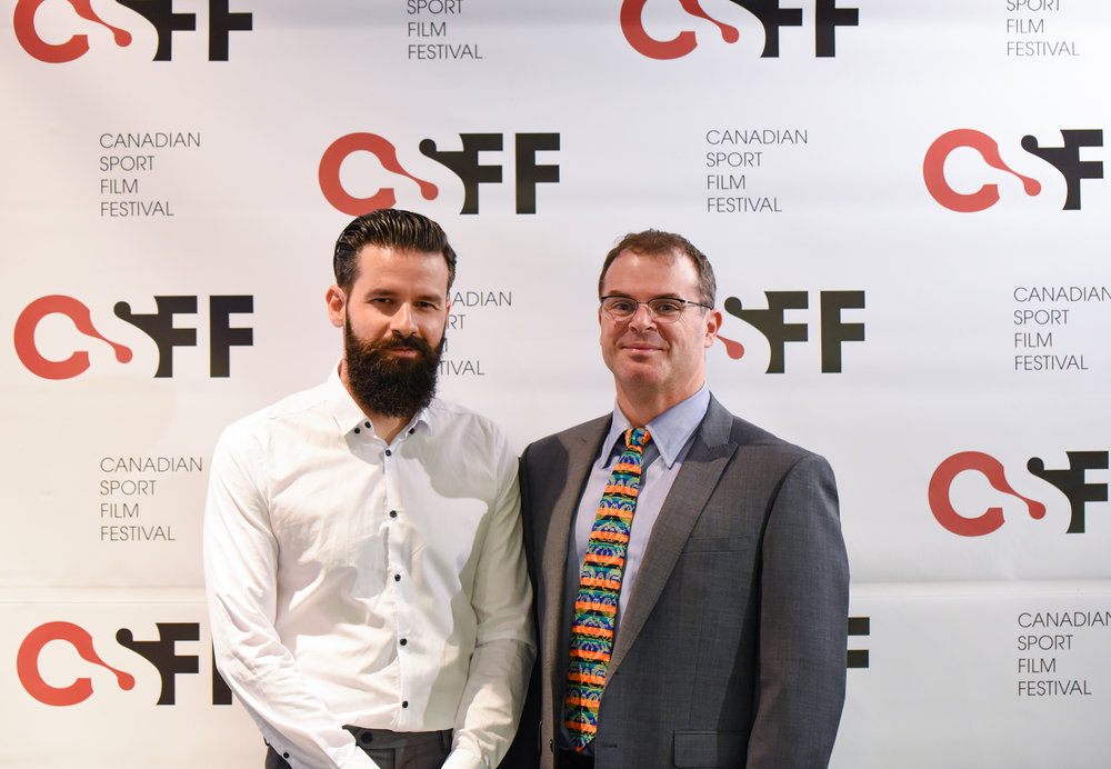 Our Executive Director Russell Field with filmmaker Evripidis Karydis of The Crossing.