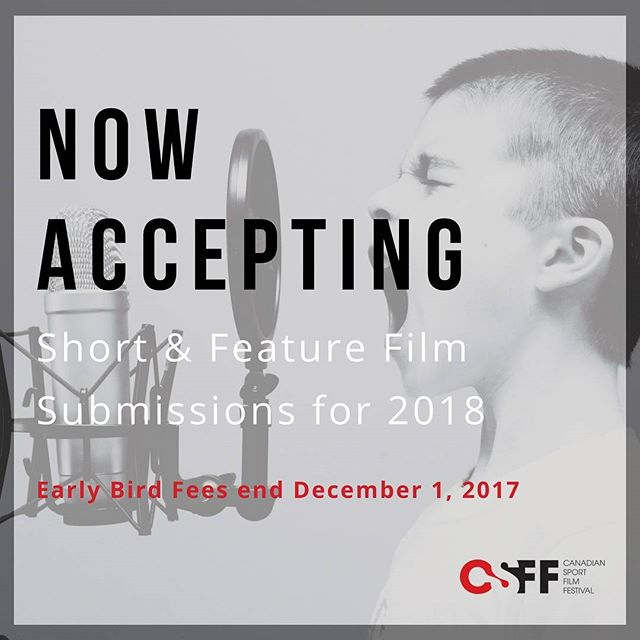 2018 marks our 10th anniversary and we have some amazing things planned! Celebrate with us and submit your film TODAY! 👆 link in bio 👆 #CSFF18 #filmfestival #filmmaker #canadiansportfilmfestival