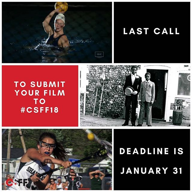 We've had an incredible number of film submissions so far and are still accepting until tomorrow, January 31st, at midnight!  Come celebrate our 10th Anniversary with us & submit your film today! Visit: www.sportfilmfestival.ca/submission  #filmfestival #filmmaker #lastcall  #sportandfilm #sportforsocialchange