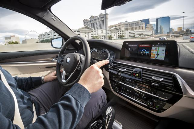 CES 2017 – BMW 5 series Connected Mobility Credit: BMW