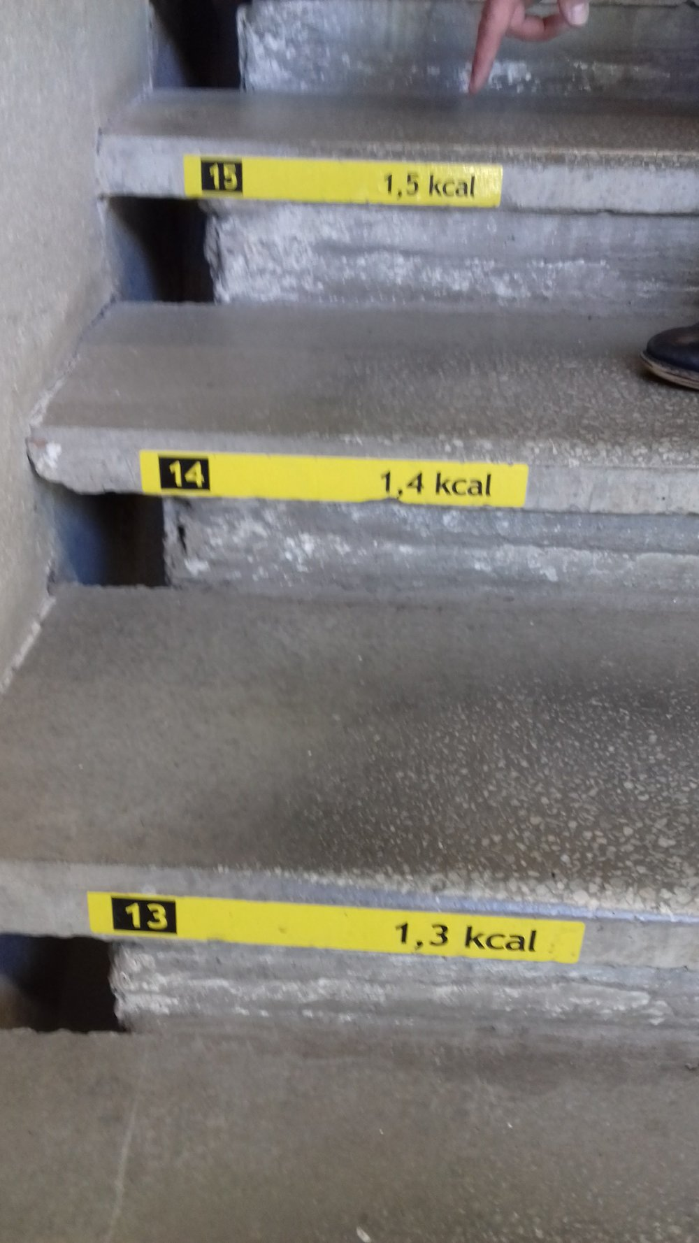 Nice idea on the stairway  to promote healthy exercise for the entrepreneurs