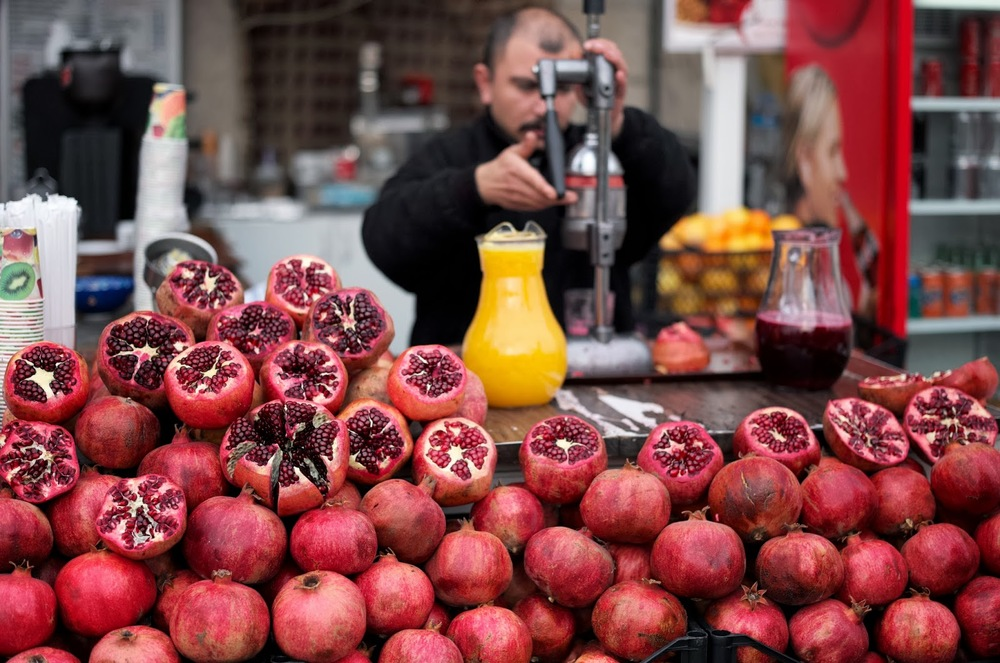 FRESH SQUEEZED POMEGRANATE AND ORANGE JUICE (PHOTO COURTEY OF GLOBAL GOOD FOOD)