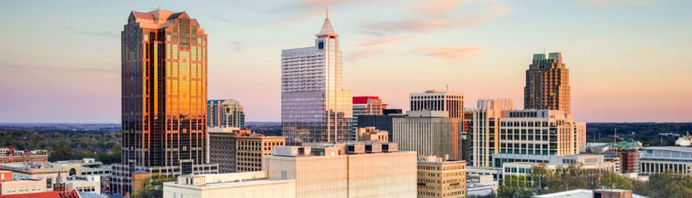 RALEIGH SKYLINE (PHOTO COURTESY OF MARRIOTT HOTELS)