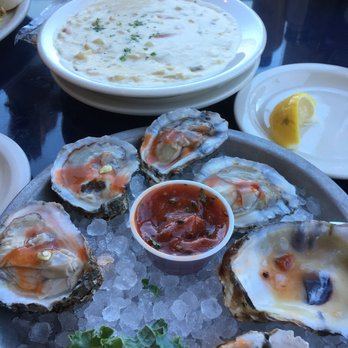 CLAM CHOWDER AND FRESH OYSTERS AT BROPHY BROTHERS
