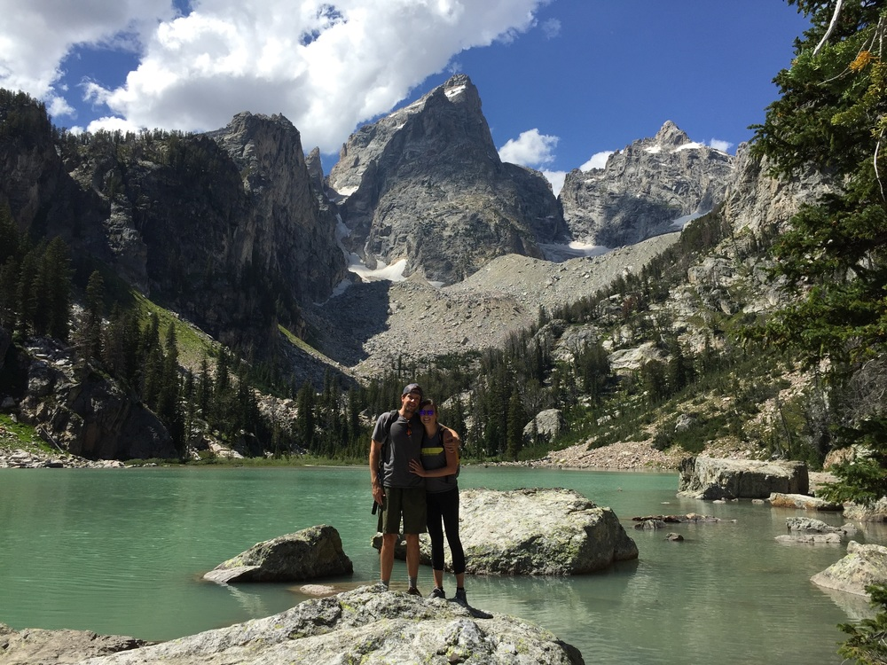 WES  AND JACKIE EXPLORING A NEW PLACE: DELTA LAKE, GRAND TETON, WY