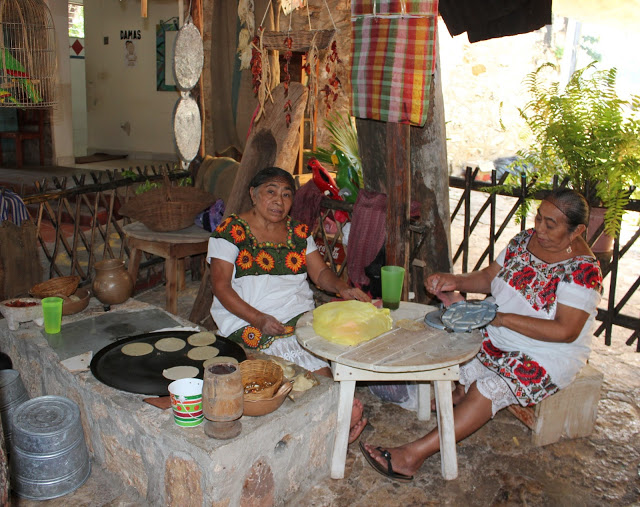 HAND MADE TORTILLAS AT THE CENOTE ZACI RESTAURANT (PHOTO COURTESY OF LAND OF THE HAW BLOG)