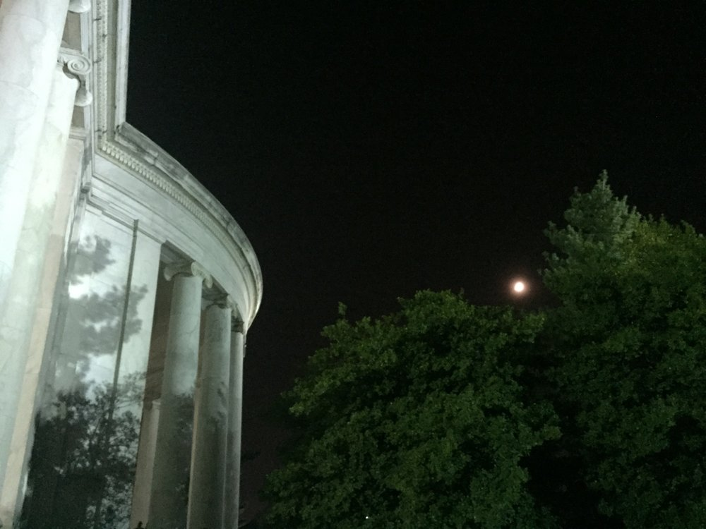 THE JEFFERSON MEMORIAL BY MOONLIGHT
