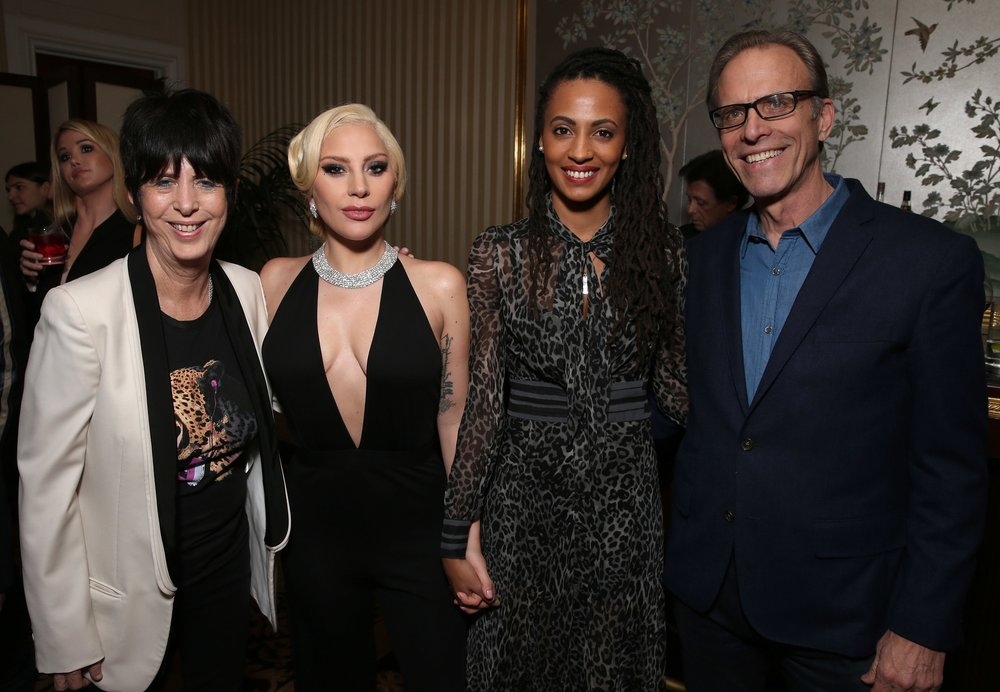 "Kamilah Willingham with Diane Warren, Lady Gaga, and  The Hunting Ground  director Kirby Dick following a special performance of ""Til It Happens to You"""