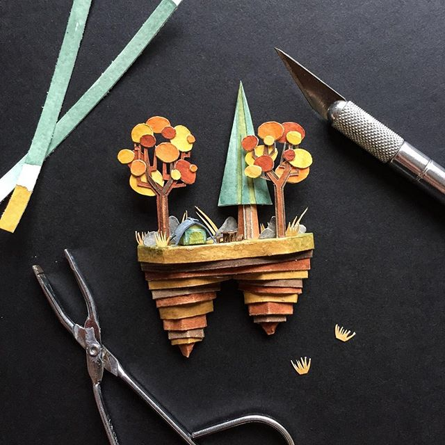 WIP | Little Autumn dome tent in the works 🙌🏼 Complete with picnic table because we all know one of the best parts of camping is enjoying food that's been cooked over a campfire 💛 ⠀ .⠀ .⠀ .⠀ #papersculpture #paperartist #papercut #cutpaper #artist #wip #paperart #papercraft #gouache #holbein #tent #camping #exacto #sculpture #LAartist #nature #greatoutdoors #autumn #illustration #illustrationart #brwnpaperbag #good_gouache #illustrationartists #inspo #inspiration #artinspiration #mondaymotivation