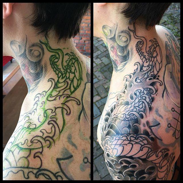 by ensō artist @kevinstress  #kevinstress #応力#kevinstresstattoo #japanesetattoos #japanesetattoo #irezumi #columbusirezumi #enso #ensotattoo #ensoartscollective #columbustattoos #columbusart #asseenincolumbus #truetubes #blackclawneedle #columbus #cbus #shortnorth #ohio #614 #tattoo