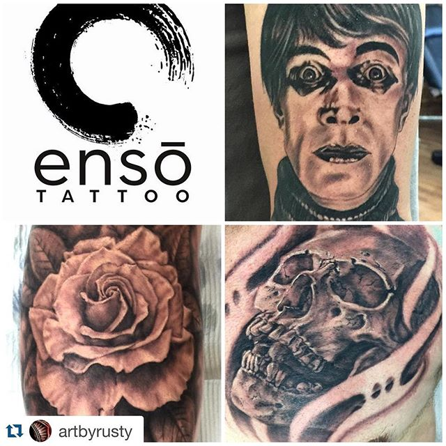 #Repost @artbyrusty with @repostapp. ・・・ I'm happy to announce that I'll be joining my friend Kevin Stress and crew at his new shop @enso_tattoo for a few days each week! I'm not leaving my family at RedTree, so I'll still be taking appointments for work there, but I'll also be taking walk-ins at Enso every Wednesday and Thursday starting in May! Stop in and get tattooed or check out the art gallery in the studio at Columbus' newest high-end tattoo studio! #614 #cbus #ohiotattoo