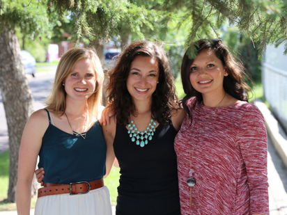August 2016 - Calgary, AB  From left to right: Kirsten Oilund, Lesley Perez & Serena Anthony