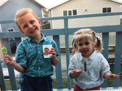 Ryan Mandryk & Kirsten Oilund circa 1992. (Please note the calm, cool, collected dude on the left and the scrappy, dirty, sticky gal on the right....)