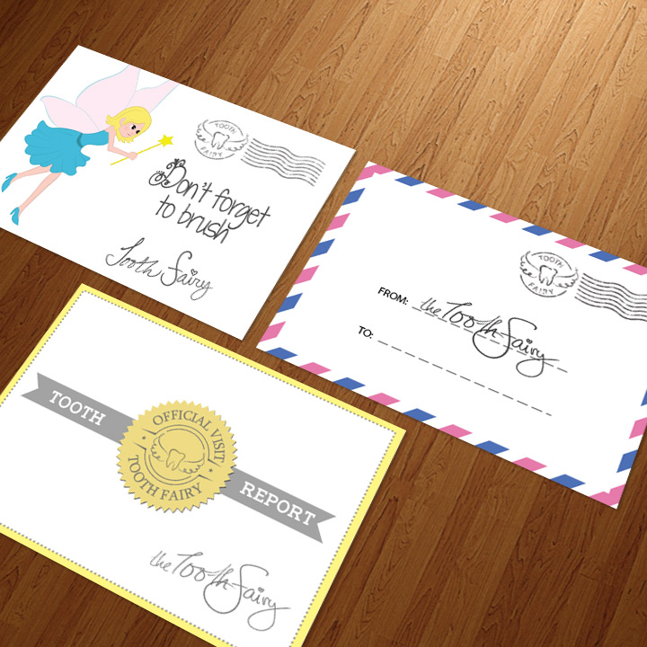 3 tooth fairy envelope designs