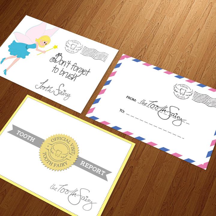 3 tooth fairy envelope designs