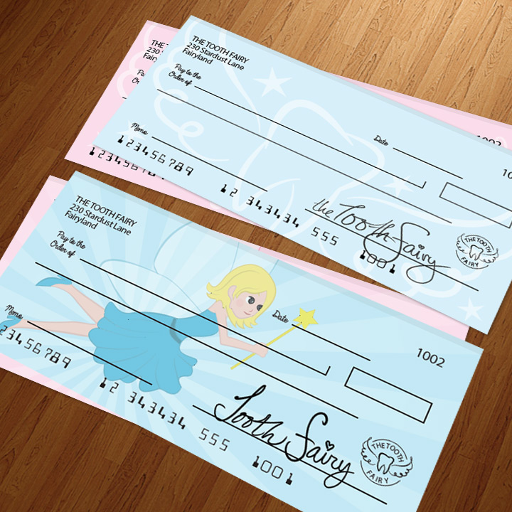 2 tooth fairy blank check designs