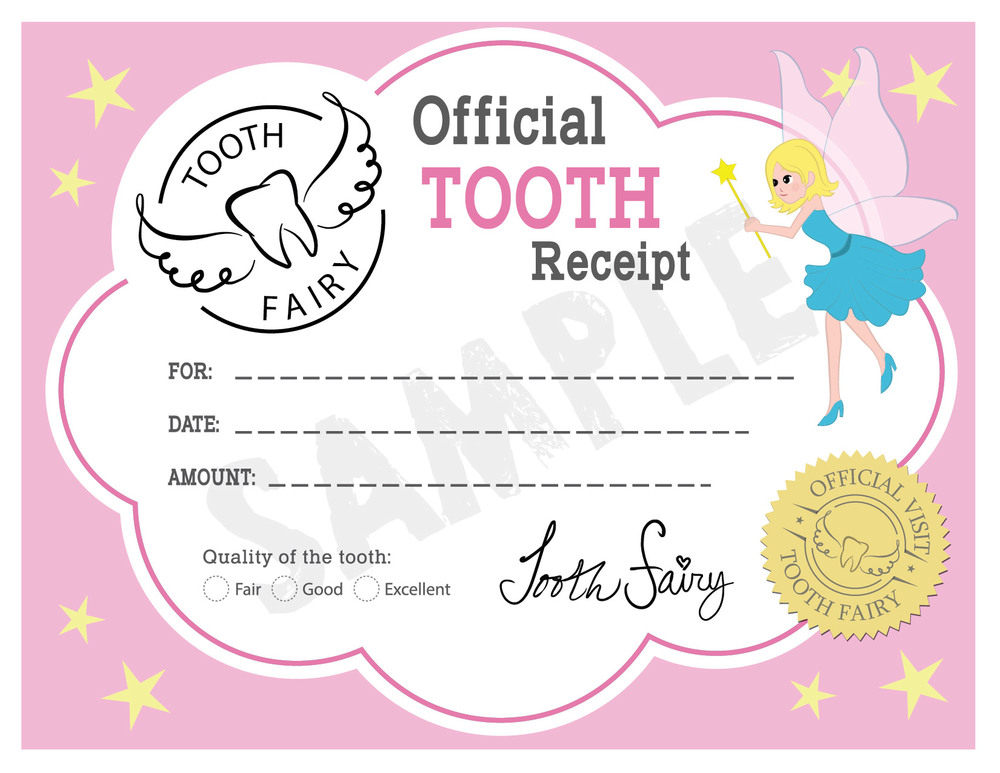 Tooth fairy booth for Free printable tooth fairy certificate template