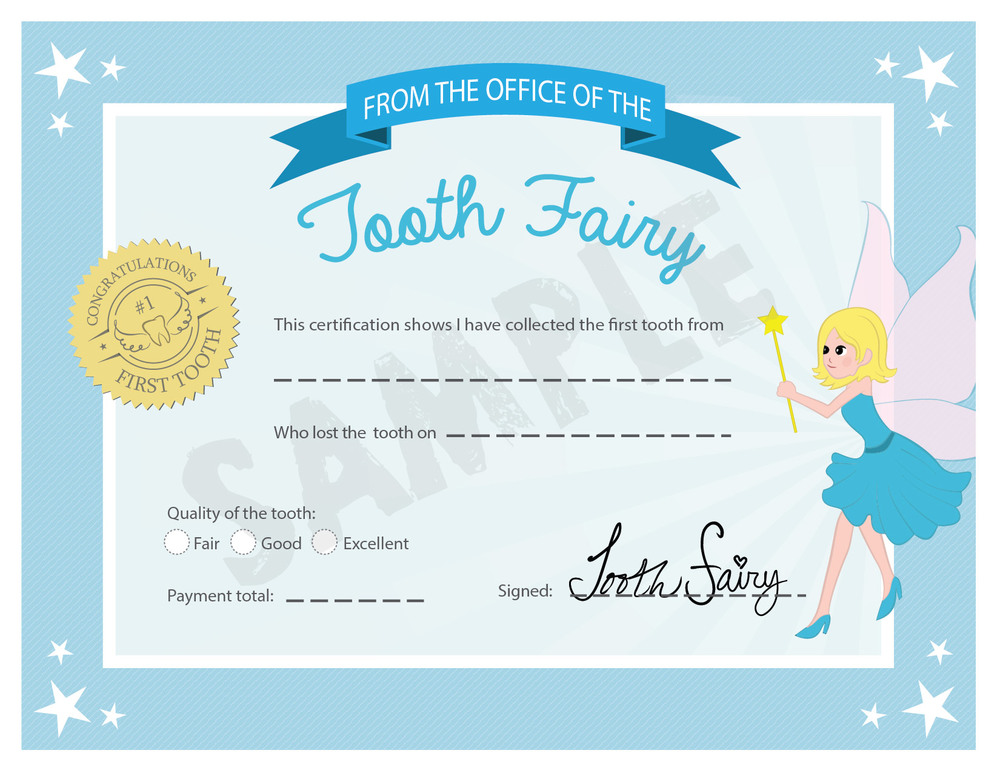 free tooth fairy certificate receipt printable for first tooth