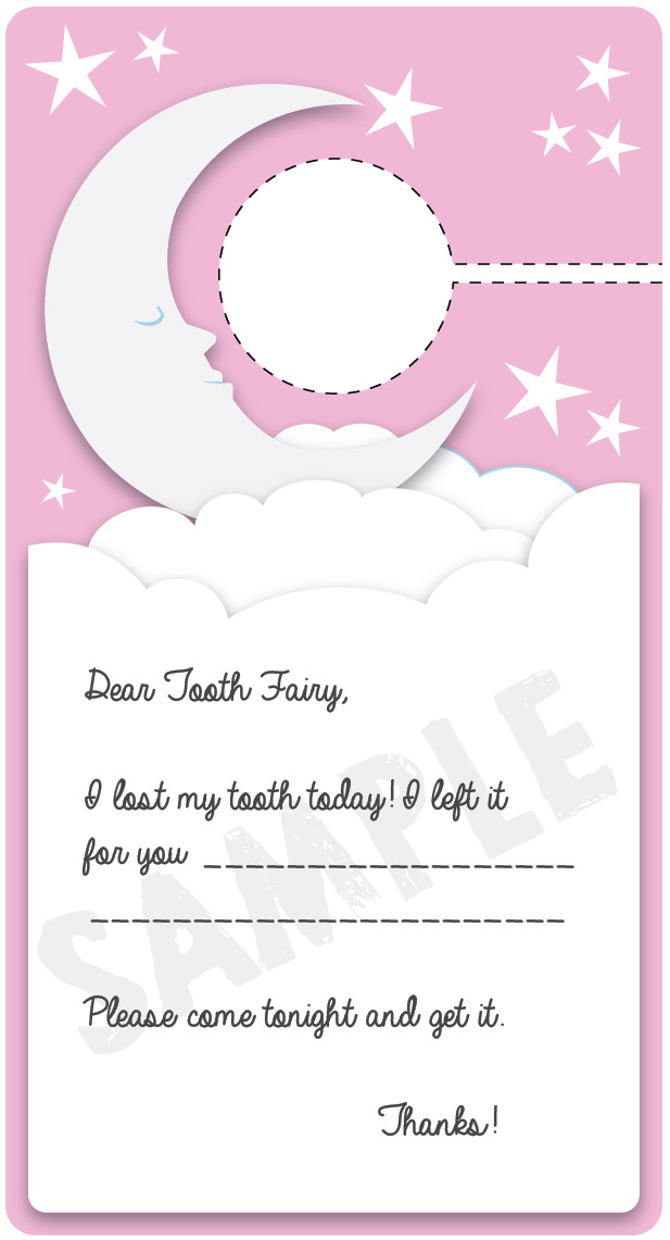 Dear Tooth Fairy door hanger printable