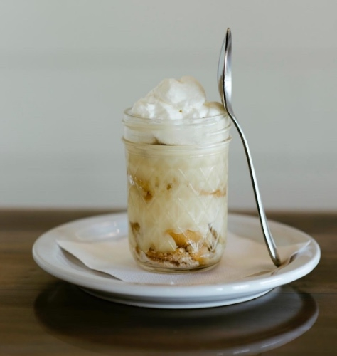 BANANA PUDDING  Housemade Banana Pudding, served in a pan or individual clear plastic disposable cups  $40/10 servings