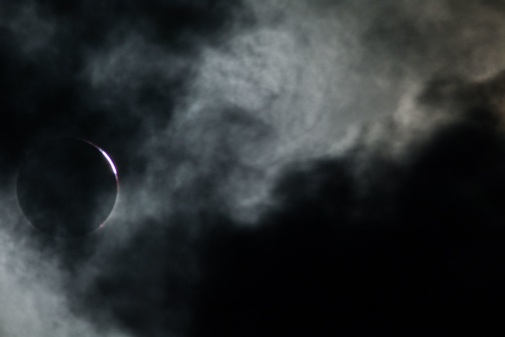 Ending of totality.