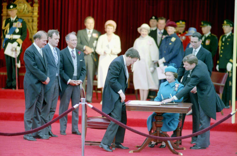 1982 - CFs Play for Signing of Canadian Constitution.jpg