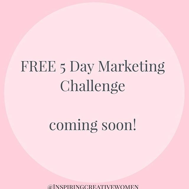 🌟Marketing Challenge🌟  As of next Monday I will be holding a FREE 5 day marketing challenge in our Facebook Group just for you guys.  This will lead us into our MEET THE EXPERT training next Thursday with Jessica Rose. Who will be giving us even more amazing marketing tips! Exciting.  Look out for Day 1 of the FREE challenge on Monday the 14th of May in the group. If you need to join then please click on the link to our website in the bio and you will see the Facebook page details @inspiringcreativewomen  Please Invite any friends who you think would gain from this challenge and get your pens and papers ready 😀 x x  #marketingchallenge #marketing #comingsoon #startup #onlinemarketing #workfromhome #mumpreneur #jewellerytraining #businesstraining #londonjewelleryschool #jessicarose #jewelleryaccademy @londonjewelers @londonjewelleryschool #creativetraining