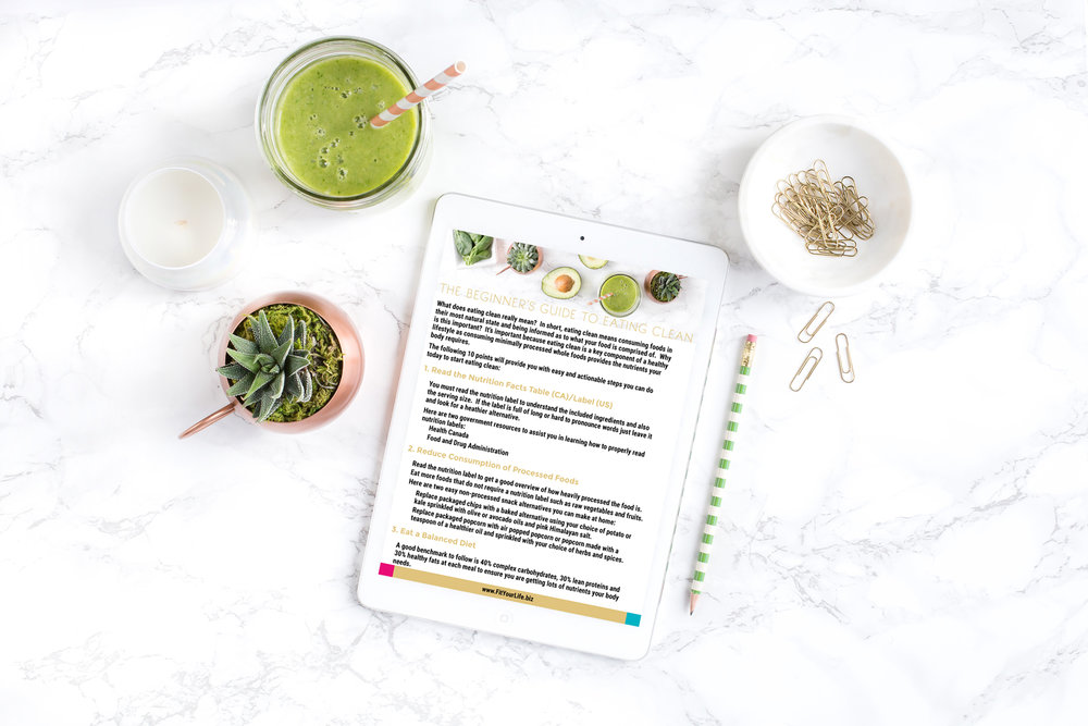 FIT YOUR LIFE, FREE BEGINNER'S GUIDE TO EATING CLEAN, EAT CLEAN