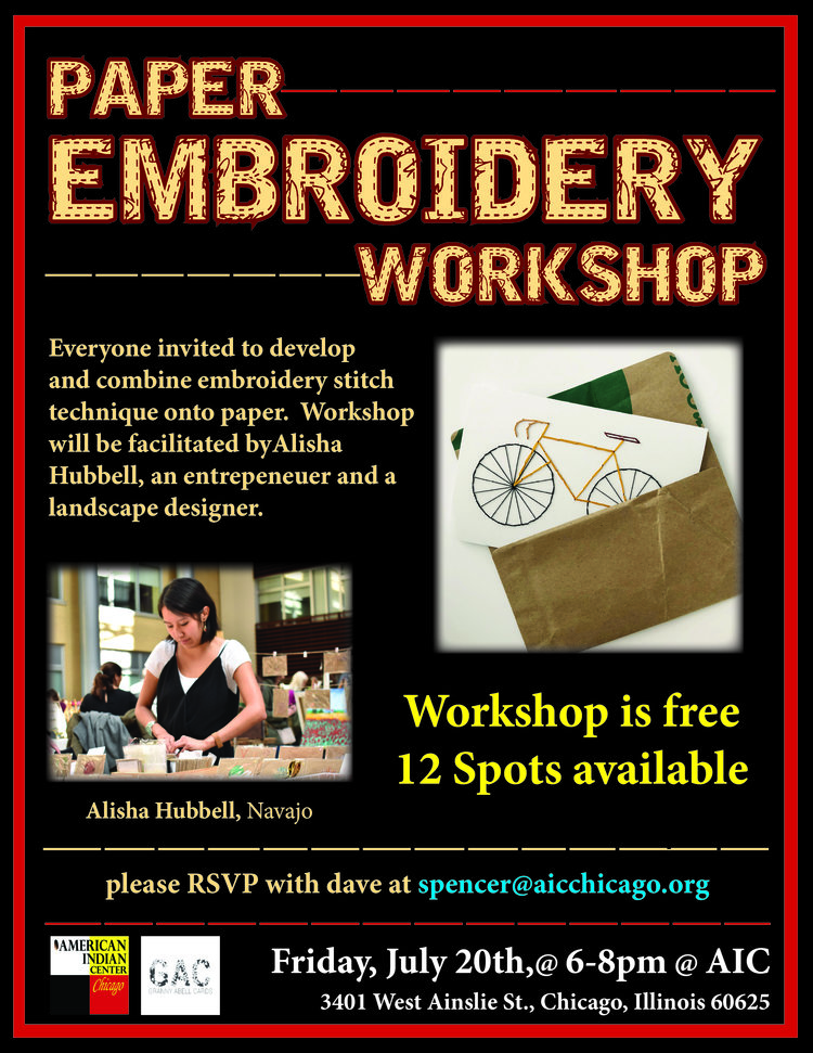 Paper Embroidery Workshop American Indian Center