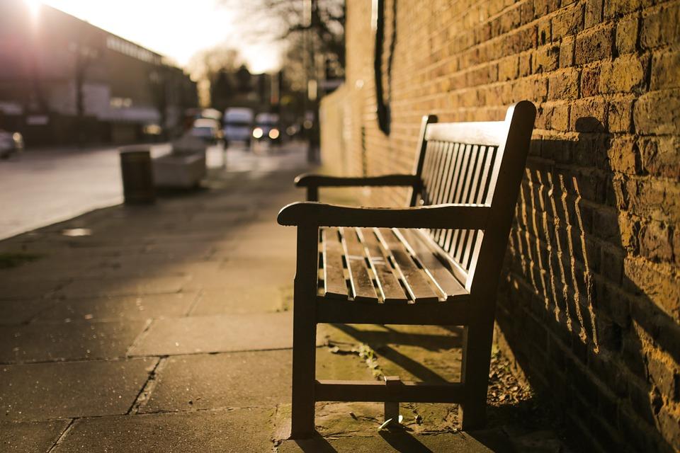 Chair on sidewalk