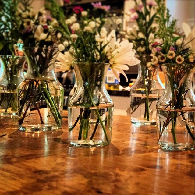 Loving these milk jug vases!! #weddingshowerflorals #eventsbylovely #rva #itsaboutfleckingtime