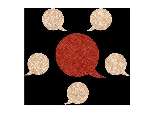 Illustration of voice bubbles