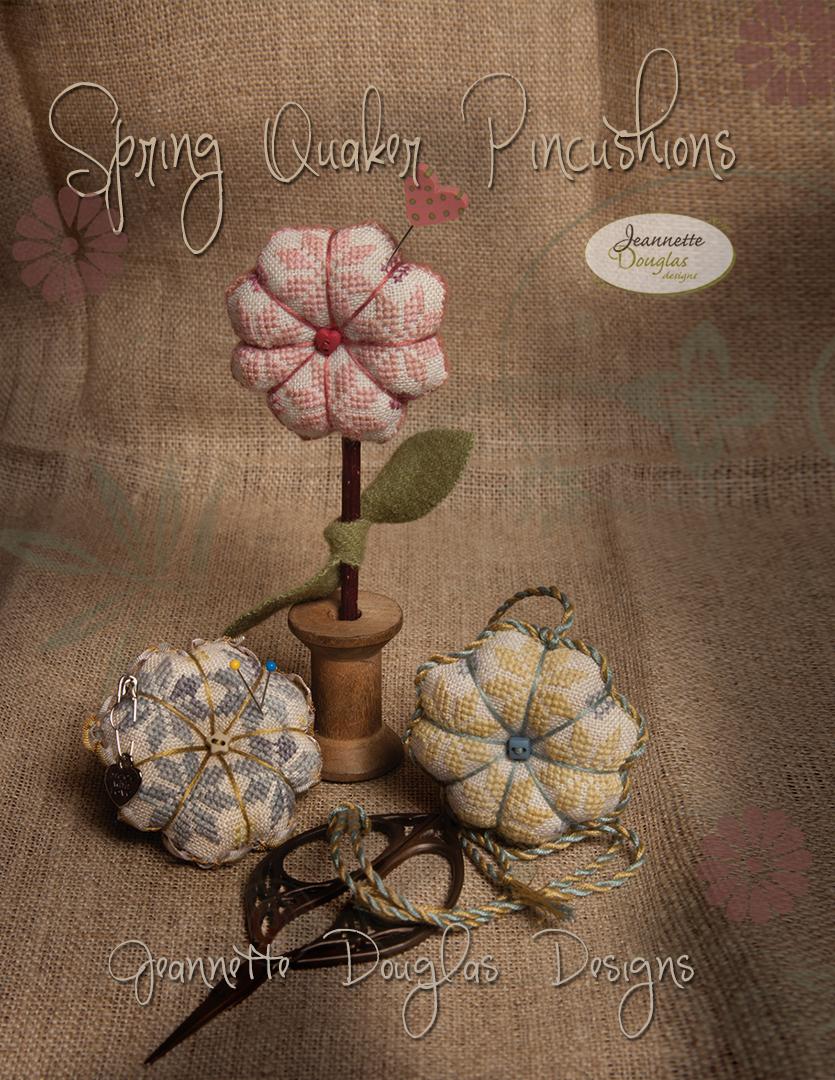 Spring Quaker Pincushions