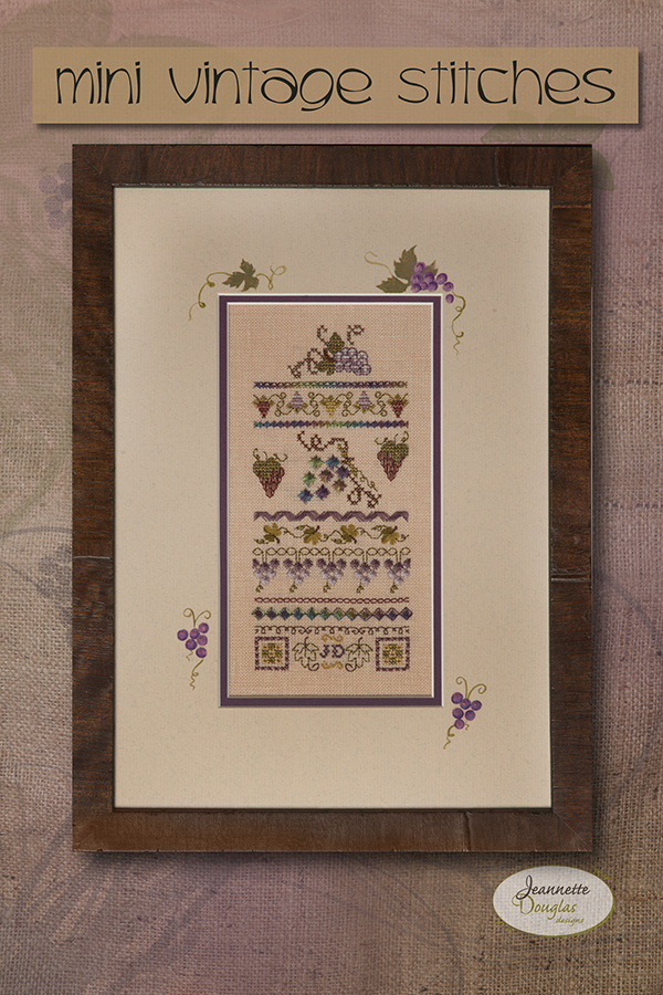 Mini Vintage (Grape) Stitches