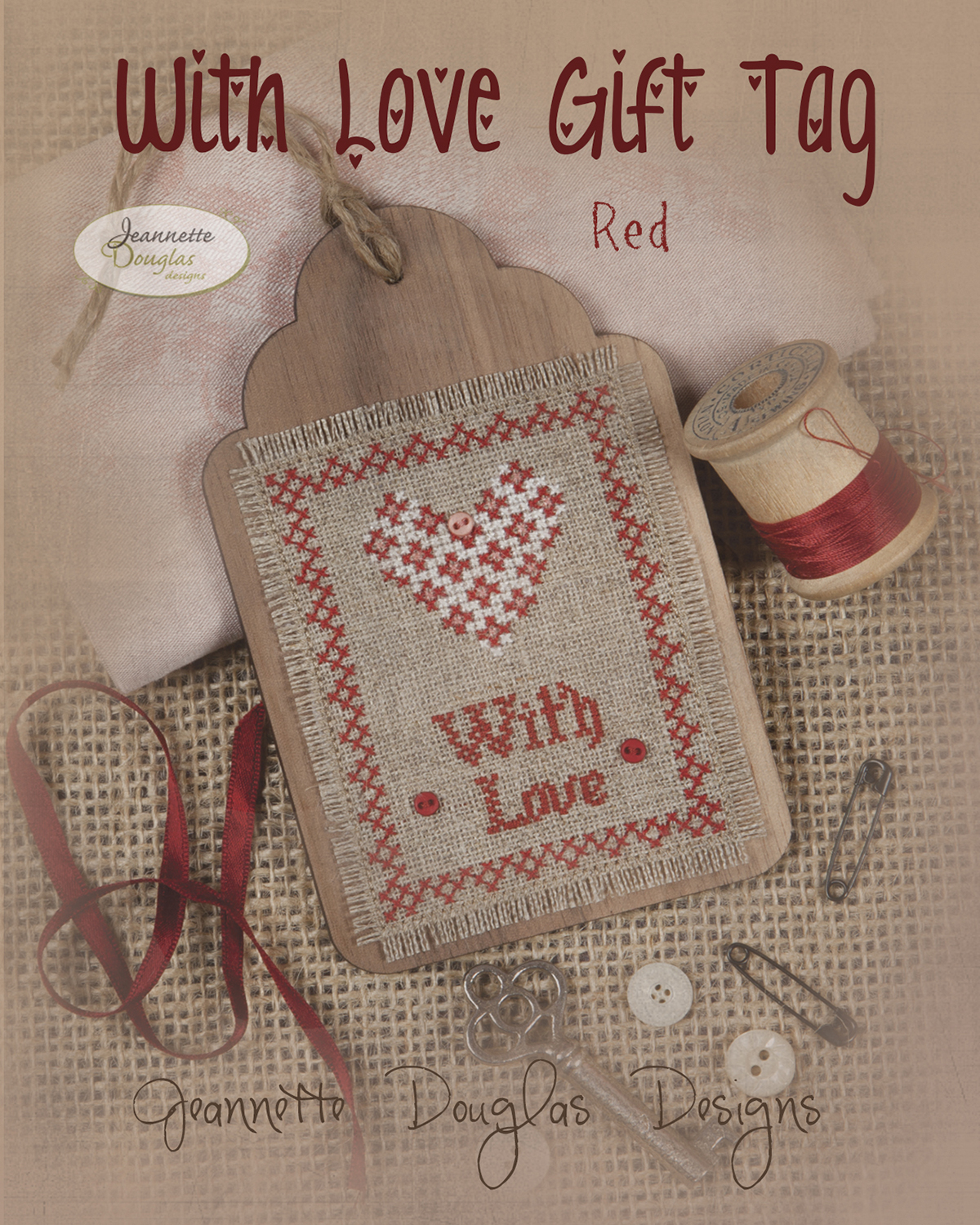 With Love Gift Tag red