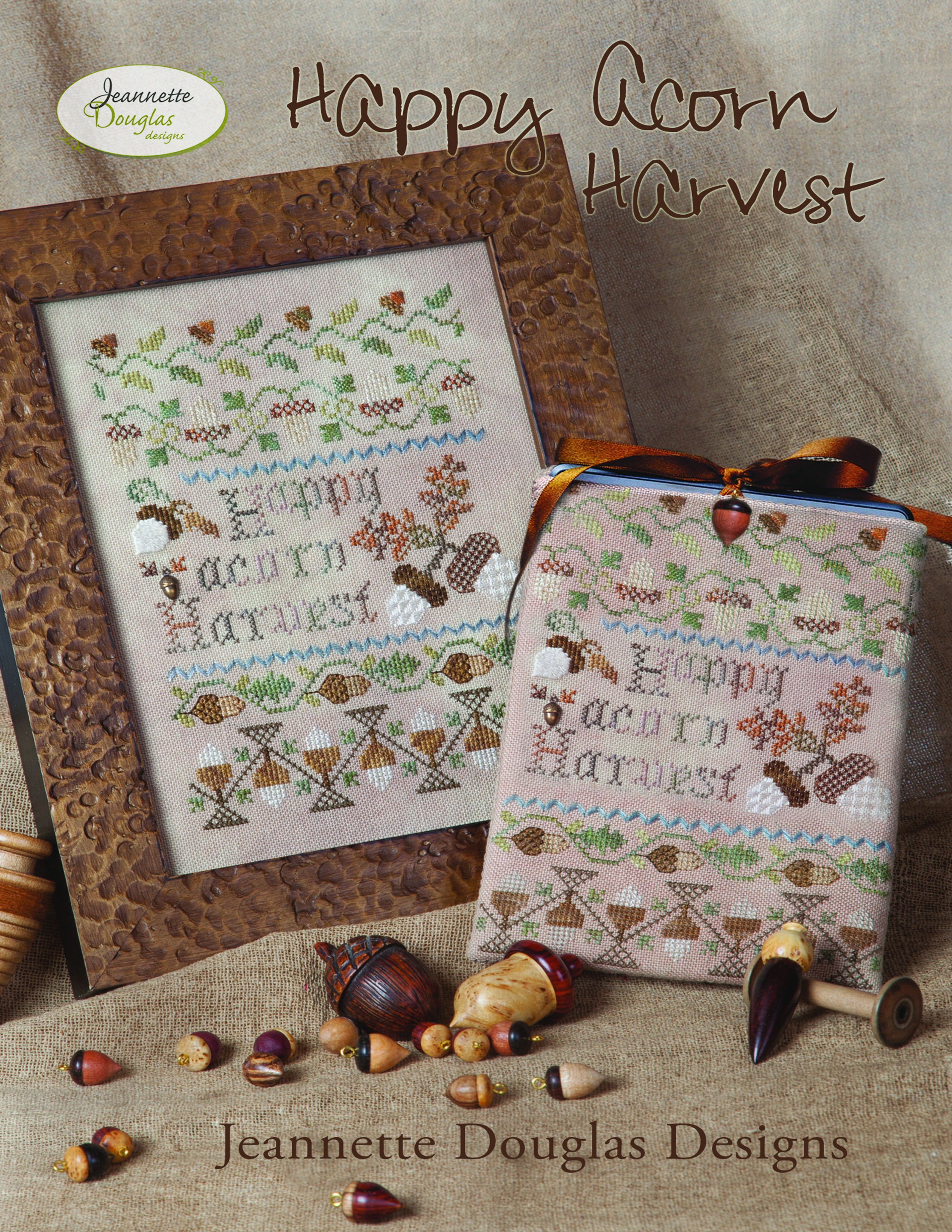 Happy Acorn Harvest Sampler or e-reader cover