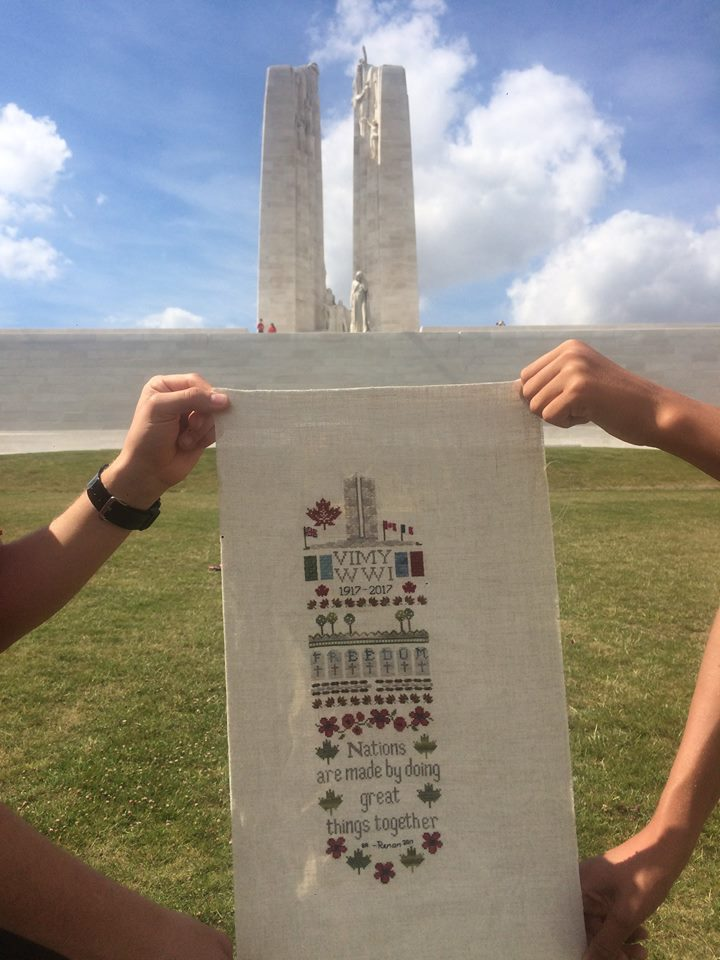 Stitched Vimy at Vimy ridge in front of Monument.jpg