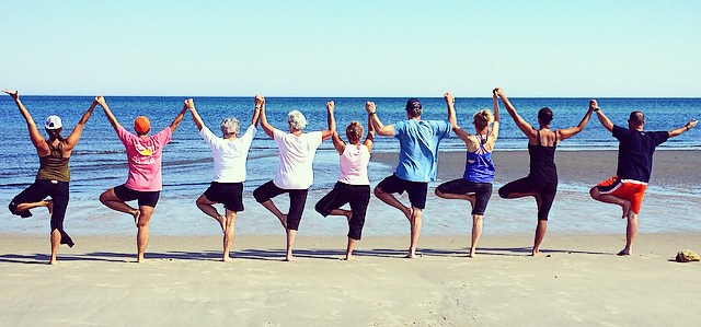 Share the practice of yoga with your family and friends! A wonderful addition to any celebration, this practice will unite, support and encourage a loving +peaceful time spent together. Not to mention, create memories that will last a lifetime! This photo is of my family during our family reunion, August 2016.