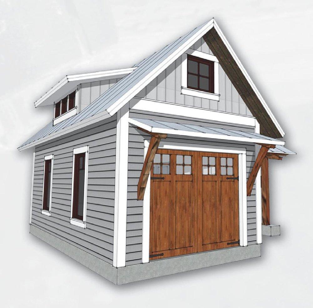 Single Timberbuilt Garage with Carport SQ.FT.267 — Fox Custom ...