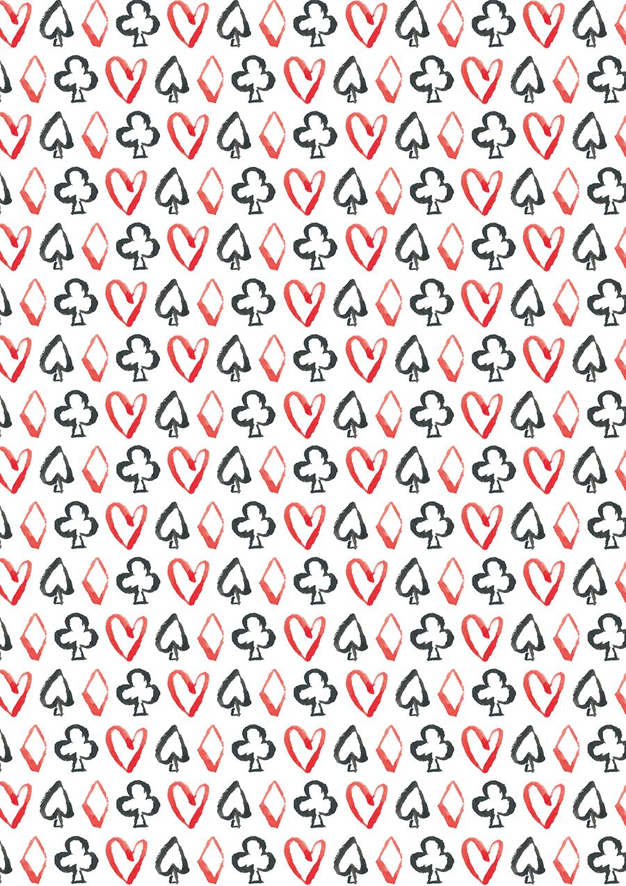 Alice Card Suit Pattern by Lauren Victoria Reeves