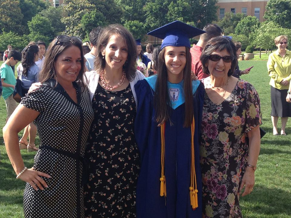 Hi, I am Dr Julie Weisberg on the left with my family (my sister Amy, my niece Jenna, and my mom Loretta.)