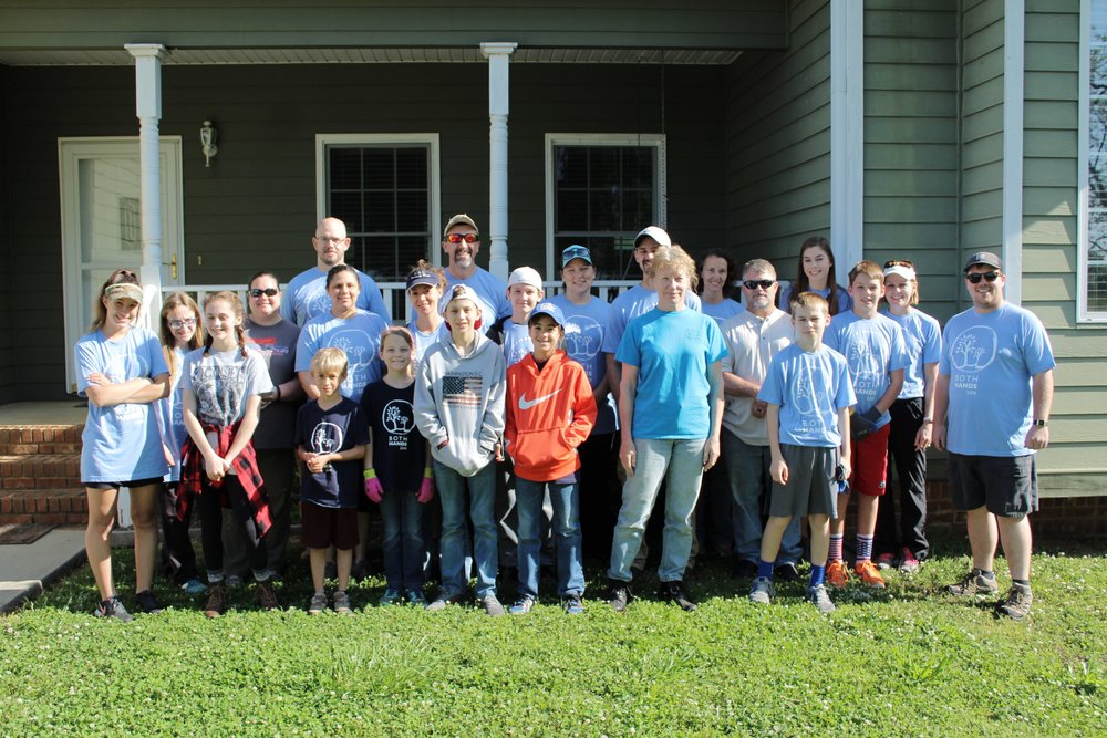 Project Number 2 - Teams serving consisted of volunteers from Watkinsville First Baptist Church!
