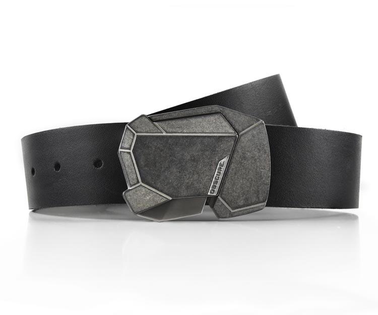 f1930563fcd Stone Fractal on Black Leather - obscurebelt.com