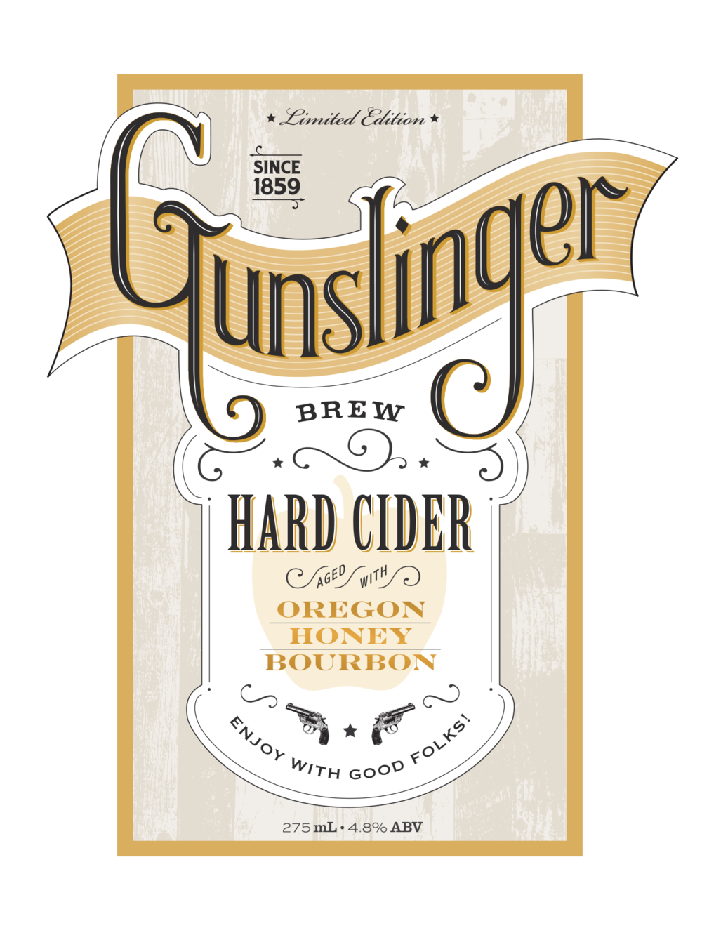 The Gunslinger Brew Label