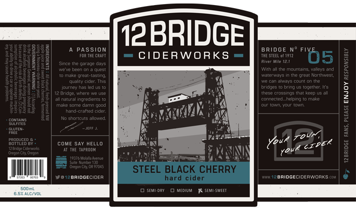 Steel Black Cherry Label
