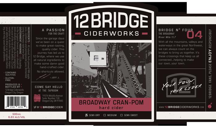 Broadway Cran-Pom Label
